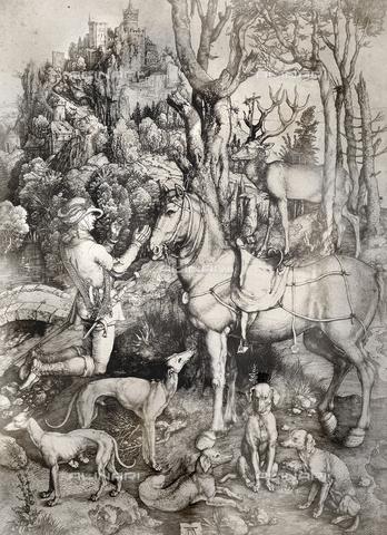 AVQ-A-000493-0059 - Sant'Eustachio, incisione di Albrecht Durer - Data dello scatto: 1861 - Raccolte Museali Fratelli Alinari (RMFA), Firenze