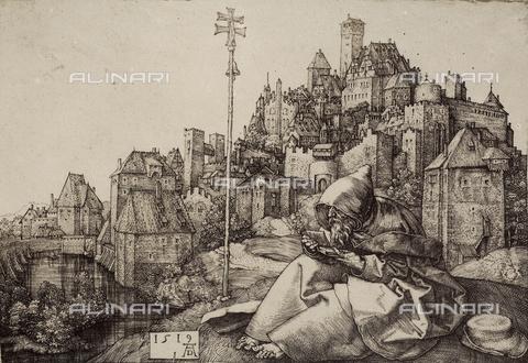 AVQ-A-000493-0060 - Sant'Antonio abate, incisione di Albrecht Durer - Data dello scatto: 1861 - Raccolte Museali Fratelli Alinari (RMFA), Firenze