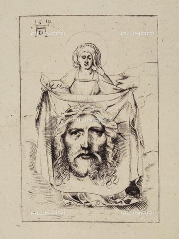 AVQ-A-000493-0066 - Santa Veronica, incisione di Albrecht Durer - Data dello scatto: 1861 - Raccolte Museali Fratelli Alinari (RMFA), Firenze