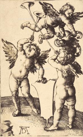 AVQ-A-000493-0068 - I tre Geni, incisione di Albrecht Durer - Data dello scatto: 1861 - Raccolte Museali Fratelli Alinari (RMFA), Firenze