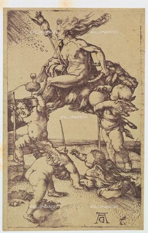 AVQ-A-000493-0069 - La strega, incisione di Albrecht Durer - Data dello scatto: 1861 - Raccolte Museali Fratelli Alinari (RMFA), Firenze