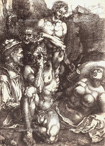 AVQ-A-000493-0072 - Cinque studi di figura, incisione di Albrecht Durer - Data dello scatto: 1861 - Raccolte Museali Fratelli Alinari (RMFA), Firenze