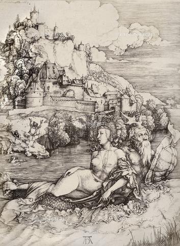 AVQ-A-000493-0073 - Il rapimento di Amimone, incisione di Albrecht Durer - Data dello scatto: 1861 - Raccolte Museali Fratelli Alinari (RMFA), Firenze