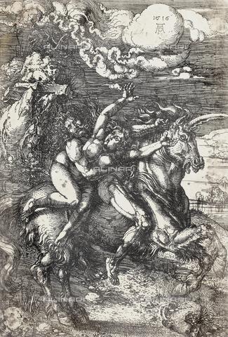 AVQ-A-000493-0074 - Rapimento di una giovane donna, incisione di Albrecht Durer - Data dello scatto: 1861 - Raccolte Museali Fratelli Alinari (RMFA), Firenze