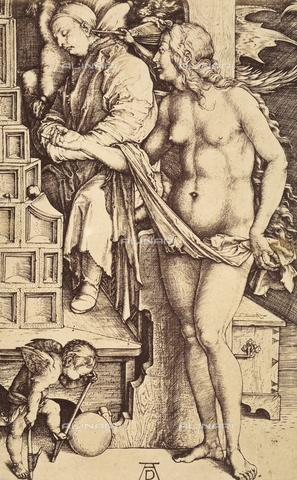 AVQ-A-000493-0078 - L'ozio, incisione di Albrecht Durer - Data dello scatto: 1861 - Raccolte Museali Fratelli Alinari (RMFA), Firenze