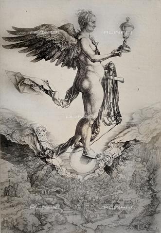 AVQ-A-000493-0079 - La grande Fortuna, incisione di Albrecht Durer - Data dello scatto: 1861 - Raccolte Museali Fratelli Alinari (RMFA), Firenze