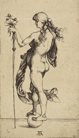 AVQ-A-000493-0080 - La piccola Fortuna, incisione di Albrecht Durer - Data dello scatto: 1861 - Raccolte Museali Fratelli Alinari (RMFA), Firenze