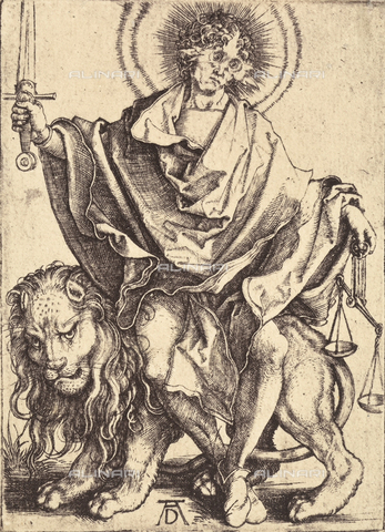 AVQ-A-000493-0081 - Nemesi o la Giustizia, incisione di Albrecht Durer - Data dello scatto: 1861 - Raccolte Museali Fratelli Alinari (RMFA), Firenze