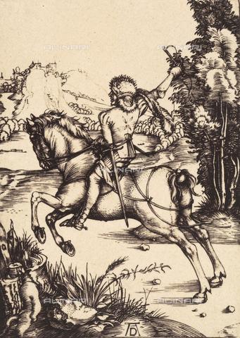 AVQ-A-000493-0082 - Il piccolo corriere, incisione di Albrecht Durer - Data dello scatto: 1861 - Raccolte Museali Fratelli Alinari (RMFA), Firenze