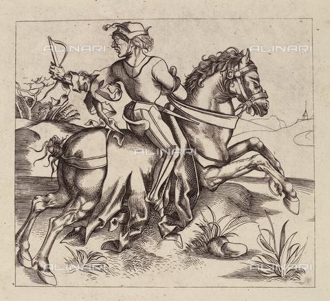 AVQ-A-000493-0083 - Il grande corriere, incisione di Albrecht Durer - Data dello scatto: 1861 - Raccolte Museali Fratelli Alinari (RMFA), Firenze