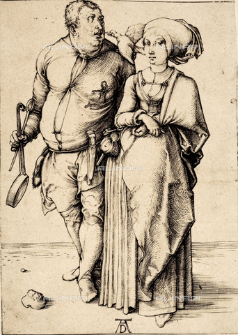AVQ-A-000493-0086 - The hostess and the cook, engraving by Albrecht Durer - Data dello scatto: 1861 - Archivi Alinari, Firenze