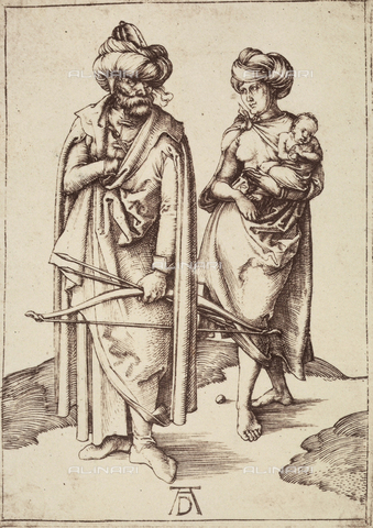 AVQ-A-000493-0087 - The oriental man and his wife, engraving by Albrecht Durer - Data dello scatto: 1861 - Archivi Alinari, Firenze