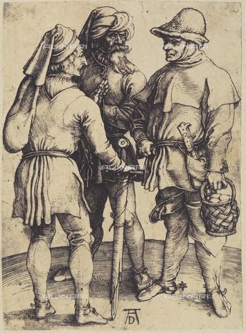 AVQ-A-000493-0088 - Tre paesani, incisione di Albrecht Durer - Data dello scatto: 1861 - Raccolte Museali Fratelli Alinari (RMFA), Firenze