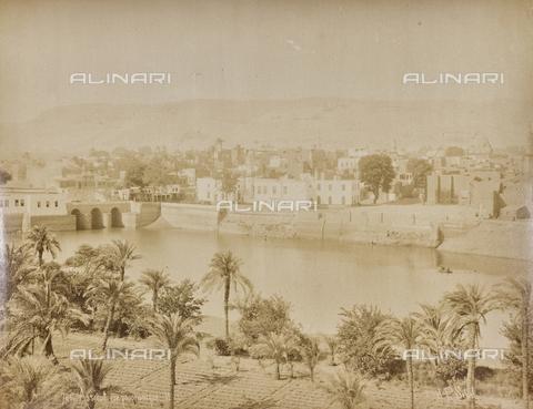 AVQ-A-000523-0033 - Veduta della città di Assiut sul Nilo - Data dello scatto: 1880 - 1890 - Raccolte Museali Fratelli Alinari (RMFA), Firenze