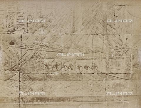 AVQ-A-000523-0054 - Nave egizia, bassorilievo del tempio di Deir -el- Bahari, Egitto - Data dello scatto: 1880 - 1890 - Raccolte Museali Fratelli Alinari (RMFA), Firenze