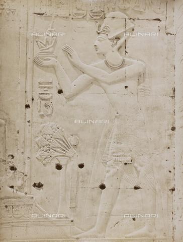 AVQ-A-000523-0059 - Sethi I sovrano d'Egitto, rilievo, tempio di Abido, Egitto - Data dello scatto: 1880 - 1890 - Raccolte Museali Fratelli Alinari (RMFA), Firenze