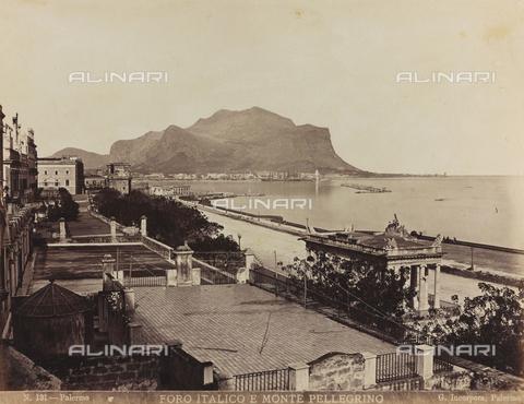 AVQ-A-000570-0005 - Veduta di Palermo con il Foro Italico e il Monte Pellegrino - Data dello scatto: 1880-1890 - Raccolte Museali Fratelli Alinari (RMFA), Firenze