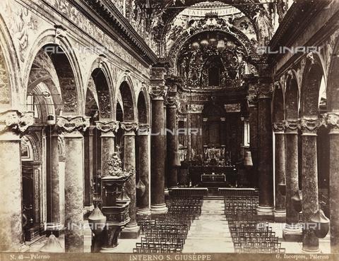 AVQ-A-000570-0024 - Interno della Chiesa di San Giuseppe dei Teatini a Palermo - Data dello scatto: 1880-1890 - Raccolte Museali Fratelli Alinari (RMFA), Firenze