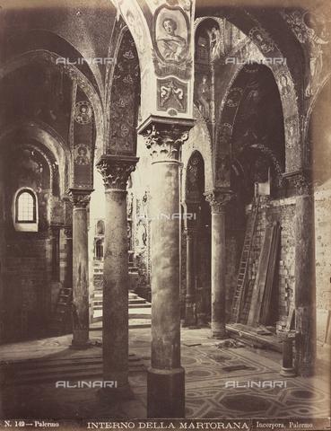 AVQ-A-000570-0025 - Interno della Chiesa della Martorana a Palermo - Data dello scatto: 1880-1890 - Raccolte Museali Fratelli Alinari (RMFA), Firenze