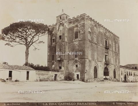 AVQ-A-000570-0026 - Veduta del Castello della Zisa a Palermo - Data dello scatto: 1880-1890 - Raccolte Museali Fratelli Alinari (RMFA), Firenze