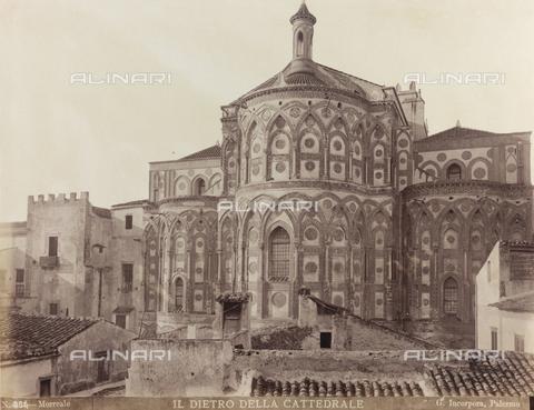 AVQ-A-000570-0032 - Veduta absidale del Duomo di Monreale - Data dello scatto: 1880-1890 - Raccolte Museali Fratelli Alinari (RMFA), Firenze