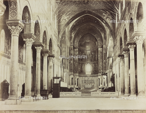 AVQ-A-000570-0034 - Interno del Duomo di Monreale - Data dello scatto: 1880-1890 - Raccolte Museali Fratelli Alinari (RMFA), Firenze
