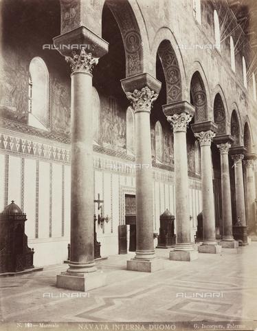 AVQ-A-000570-0036 - Navata del Duomo di Monreale - Data dello scatto: 1880-1890 - Raccolte Museali Fratelli Alinari (RMFA), Firenze