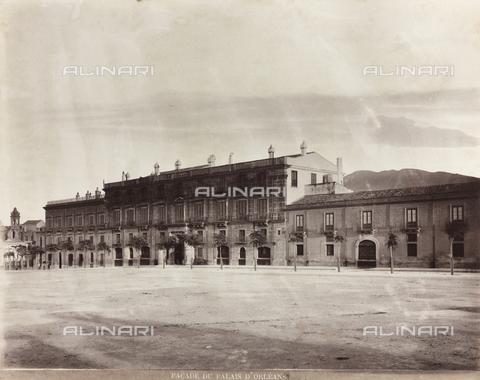 AVQ-A-000570-0039 - Veduta del Palazzo d'Orléans di Palermo - Data dello scatto: 1880-1890 - Raccolte Museali Fratelli Alinari (RMFA), Firenze