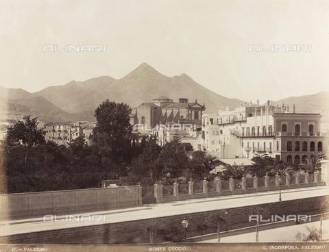 AVQ-A-000570-0040 - Veduta di Palermo con il Monte Cuccio - Data dello scatto: 1880-1890 - Raccolte Museali Fratelli Alinari (RMFA), Firenze