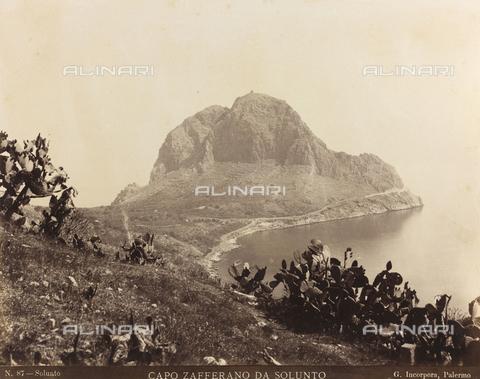 AVQ-A-000570-0058 - Veduta di Capo Zafferano da Solunto, Palermo - Data dello scatto: 1880-1890 - Raccolte Museali Fratelli Alinari (RMFA), Firenze