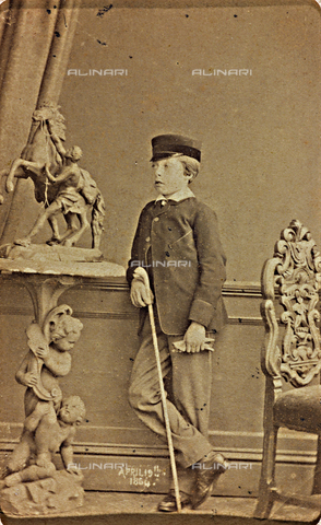AVQ-A-000619-0009 - Portrait of Prince Leopold George Duncan Albert of Saxe-Coburg-Gotha - Date of photography: 19/04/1864 - Fratelli Alinari Museum Collections, Florence