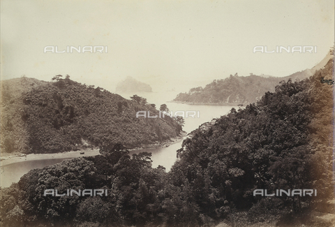 AVQ-A-000887-0021 - Panoramic view of Pappenberg Island in Nagasaki Bay - Data dello scatto: 1866 - Archivi Alinari, Firenze