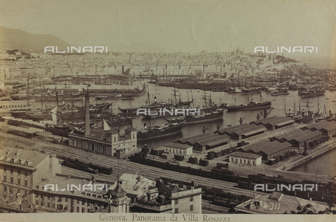AVQ-A-000946-0001 - View of Genoa from Villa Rosazza - Data dello scatto: 1870-1890 - Archivi Alinari, Firenze