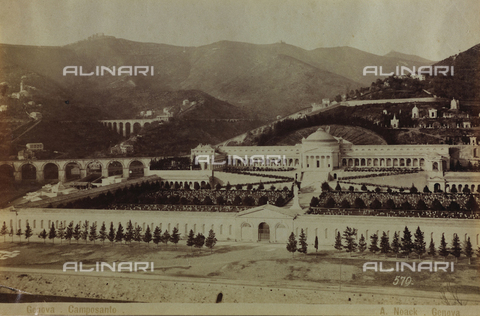 AVQ-A-000946-0003 - View of the Monumental Staglieno Cemetery in Genoa - Data dello scatto: 1870-1890 - Archivi Alinari, Firenze