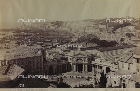 AVQ-A-000946-0005 - View of Piazza Acquaverde in Genoa - Data dello scatto: 1870-1890 - Archivi Alinari, Firenze