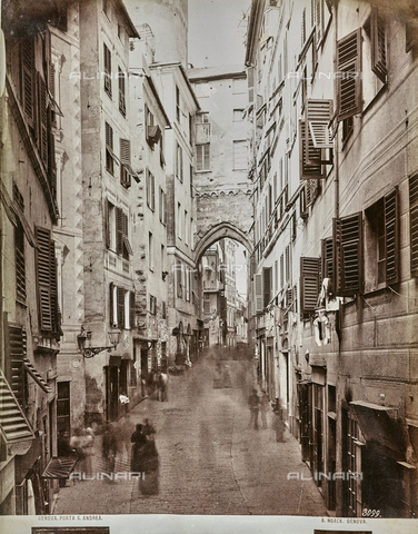 AVQ-A-000992-0037 - View of Porta Sant'Andrea in Genoa - Data dello scatto: 1860-1869 - Archivi Alinari, Firenze
