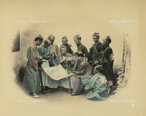 AVQ-A-000994-0007 - A group of southern Japanese officers - Data dello scatto: 1863-1877 - Archivi Alinari, Firenze