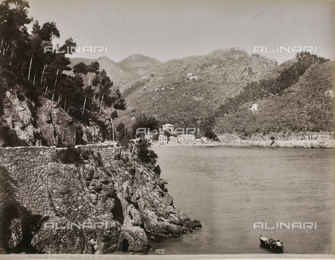 "AVQ-A-001038-0031 - Album ""Gênes et ses environs octobre 1891 - 1307"": Strada between Santa Margherita Ligure and Portofino in the Levante Riviera. Date 1307 refers to the Rumi calendar (calendar used since 1839 by the Ottoman Empire and the Turkish Republic until 1926) - Data dello scatto: 10/1891 - Archivi Alinari, Firenze"
