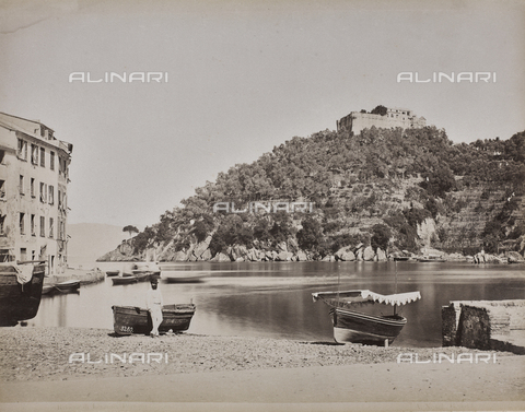 "AVQ-A-001038-0033 - Album ""Gênes et ses environs octobre 1891 - 1307"": view of Portofino in the Levante Riviera. Date 1307 refers to the Rumi calendar (calendar used since 1839 by the Ottoman Empire and the Turkish Republic until 1926) - Data dello scatto: 10/1891 - Archivi Alinari, Firenze"