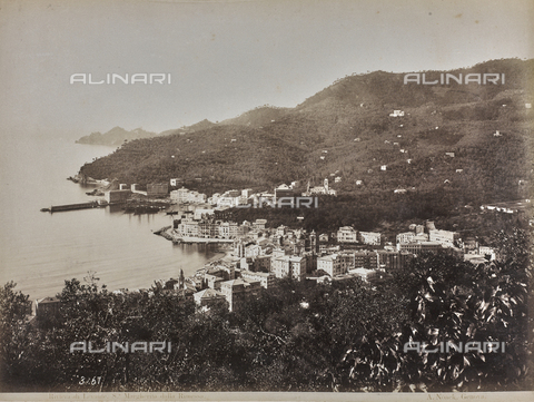 "AVQ-A-001038-0034 - Album ""Gênes et ses environs octobre 1891 - 1307"": a view of Santa Margherita Ligure in the Riviera of Levante. Date 1307 refers to the Rumi calendar (calendar used since 1839 by the Ottoman Empire and the Turkish Republic until 1926) - Data dello scatto: 10/1891 - Archivi Alinari, Firenze"