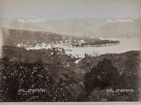 "AVQ-A-001038-0035 - Album ""Gênes et ses environs octobre 1891 - 1307"": a view of Santa Margherita Ligure in the Riviera of Levante. Date 1307 refers to the Rumi calendar (calendar used since 1839 by the Ottoman Empire and the Turkish Republic until 1926) - Data dello scatto: 10/1891 - Archivi Alinari, Firenze"
