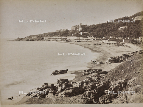 "AVQ-A-001038-0047 - Album ""Gênes et ses environs octobre 1891 - 1307"": a view of Bordighera. Photo taken from the Riviera of Levante. Date 1307 refers to the Rumi calendar (calendar used since 1839 by the Ottoman Empire and the Turkish Republic until 1926) - Data dello scatto: 10/1891 - Archivi Alinari, Firenze"