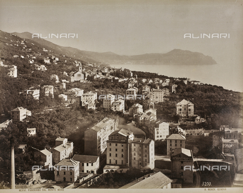 "AVQ-A-001038-0049 - Album ""Gênes et ses environs octobre 1891 - 1307"": view of Nervi. Panorama from Monte Moro. Date 1307 refers to the Rumi calendar (calendar used since 1839 by the Ottoman Empire and the Turkish Republic until 1926) - Data dello scatto: 10/1891 - Archivi Alinari, Firenze"