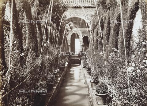 AVQ-A-001324-0061 - Granada. Giardini dell'Alhambra - Data dello scatto: 1880 ca. - Archivi Alinari, Firenze
