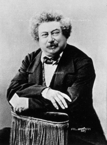 AVQ-A-001391-0253 - Half-length portrait of the famous French author Alexandre Dumas père - Data dello scatto: 1860-1870 ca. - Archivi Alinari, Firenze