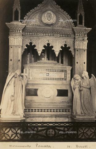 AVQ-A-001547-0033 - Monument to Giovan Battista Lanata, Giuseppe Benetti (1825-1914), Staglieno Monumental Cemetery, Genoa - Data dello scatto: 1860-1870 ca. - Archivi Alinari, Firenze