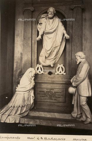 AVQ-A-001547-0036 - Monument to Giuseppe Benedetto Badaracco, Giovan Battista Cevasco (1814-1891), Staglieno Monumental Cemetery, Genoa - Data dello scatto: 1878 ca. - Archivi Alinari, Firenze