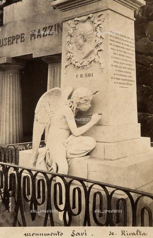 AVQ-A-001547-0038 - Monumento a Francesco Bartolomeo Savi, Augusto Rivalta (1837-1925), Cimitero Monumentale di Staglieno, Genova - Data dello scatto: 1870 ca. - Raccolte Museali Fratelli Alinari (RMFA), Firenze