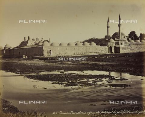 """AVQ-A-001581-0012 - Album """" Damas et Baalbek """": View of the exterior of a mosque in Damascus - Data dello scatto: 1880 ca. - Archivi Alinari, Firenze"""