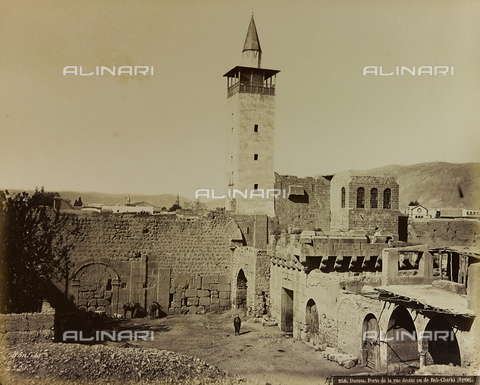 "AVQ-A-001581-0013 - Album "" Damas et Baalbek "": The east gate (Bab Charkhi) access to the old city in Damascus - Data dello scatto: 1880 ca. - Archivi Alinari, Firenze"